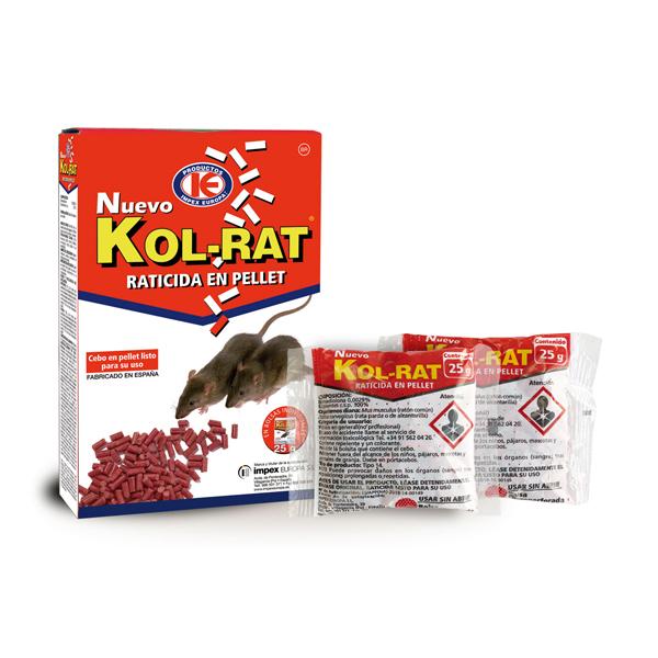 RATICIDA KOL-RAT PELLET 150 gr